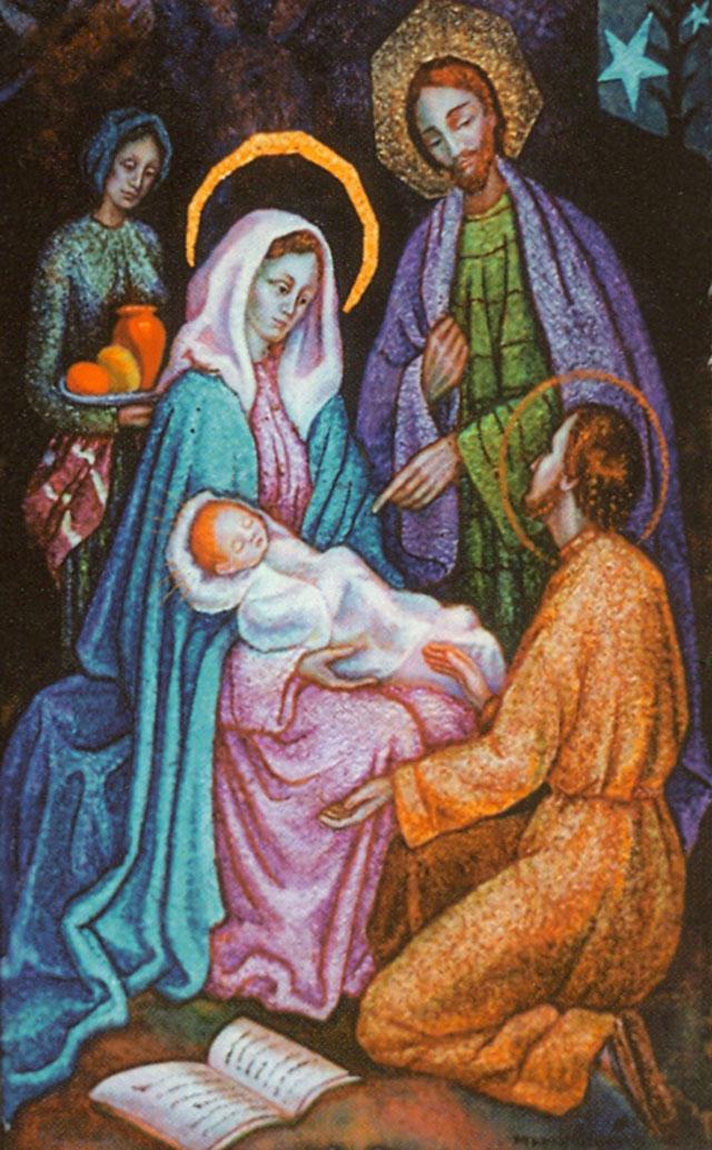 Slika na svetohraništu u špilji u Manrezi prikazuje sv. Ignacija u štalici