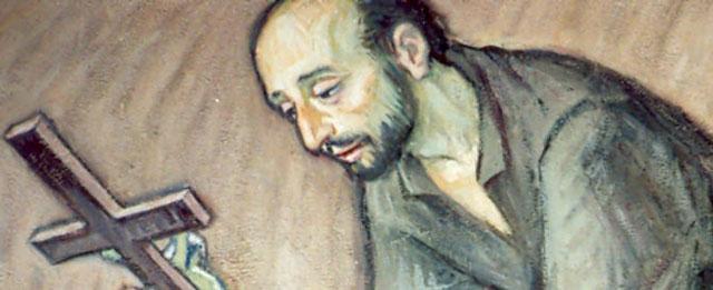 Sveti Ignacij moli pred raspelom